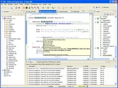 PHPeclipse editor, syntax highlighting, outline, code assist