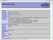 phpinfo(); for version 1.0