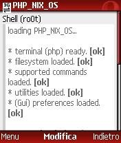 Opening a terminal (shell) session - PHP_NIX_OS 0.5.2