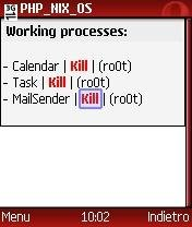 """Process"" Manager -  PHP_NIX_OS 0.5.2"