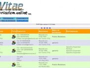 Admin page of phpvitae