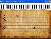 Piano Key And Note Display