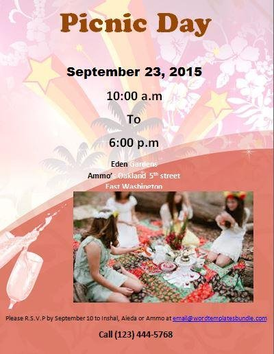 Picnic Flyer Templates Download Sourceforge