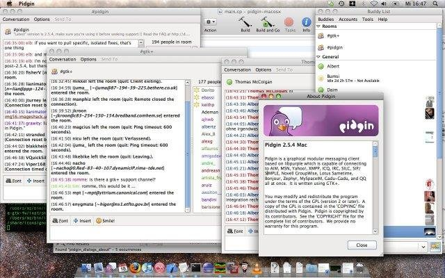 Pidgin for Mac OS X screenshot
