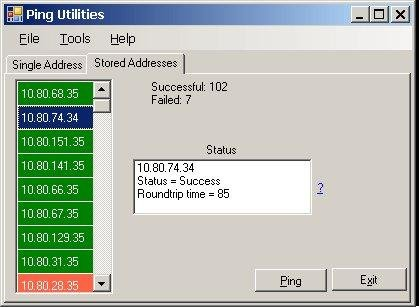 Ping Utilities download   SourceForge net