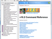 PiXCL Help Window explains the 800+ commands and operators