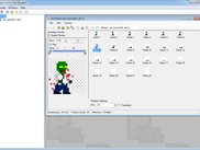 Main program MDI interface with an animation viewer opened