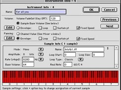 Instrument and sample info with PP 5.9.8 on Mac OS Classic