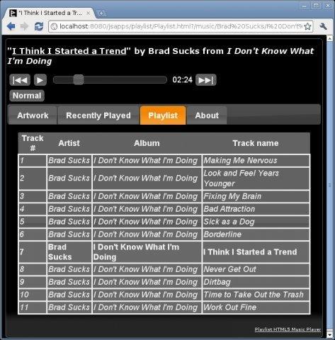 Playlist HTML5 Audio Player download   SourceForge net