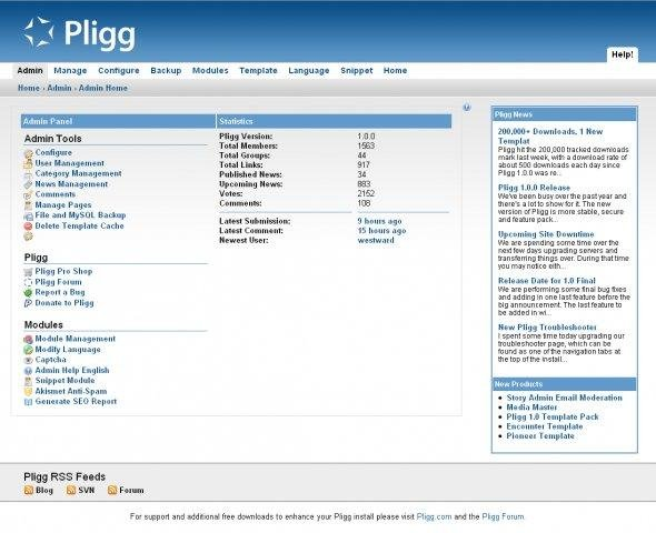 Pligg CMS download | SourceForge net
