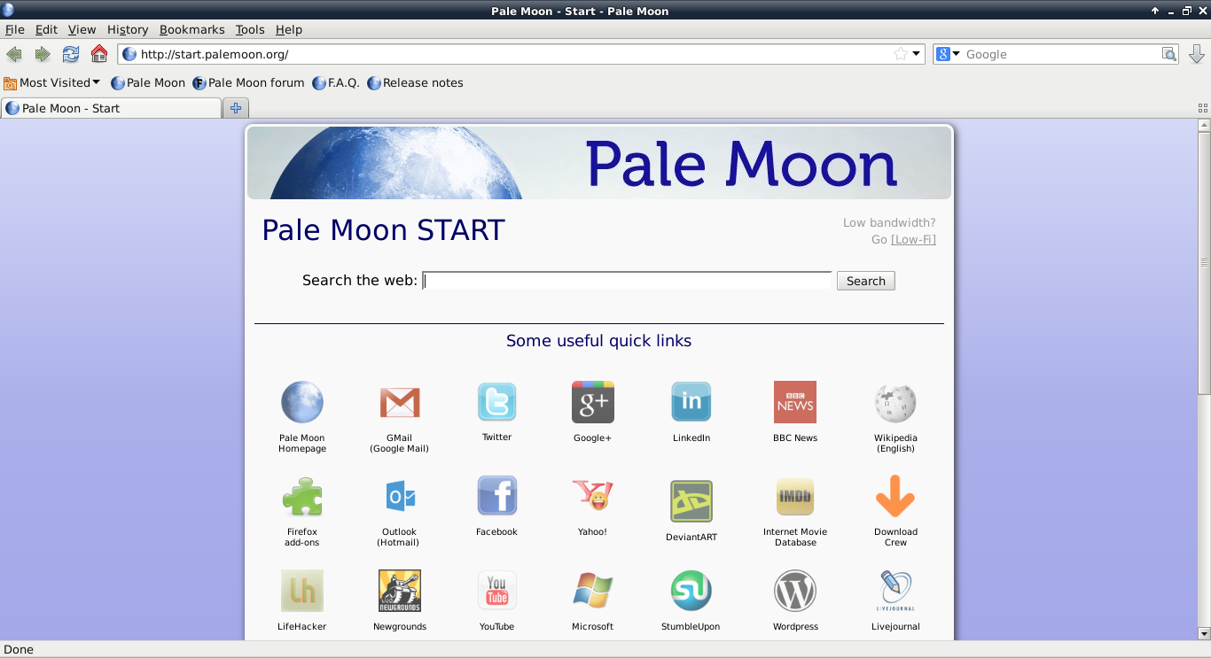 Pale Moon freeware