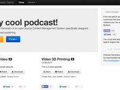 The main page of Podcast Generator