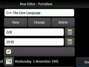 Row editor on Nokia N900