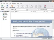Portable Thunderbird Main Window