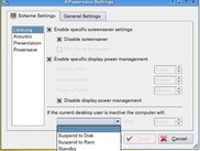 KPowersave: Configure Dialog - with Autosuspend (Develop)