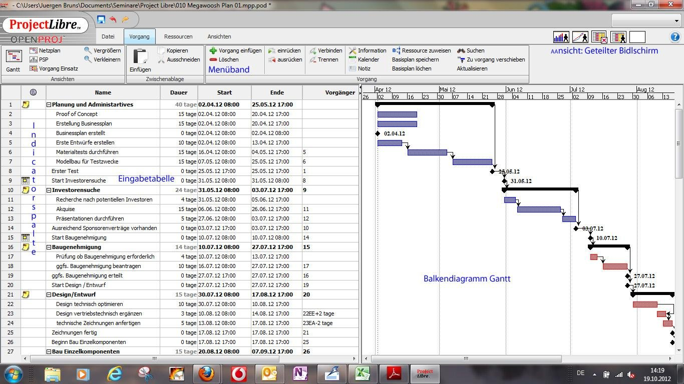 Projectlibre project management download sourceforge projectlibre gantt chart ccuart Images