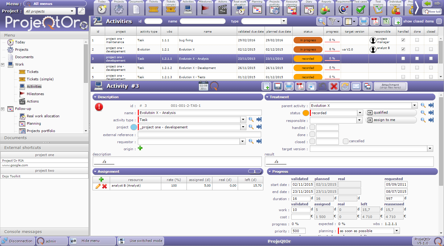 ProjeQtOr - Project Management Tool download   SourceForge net