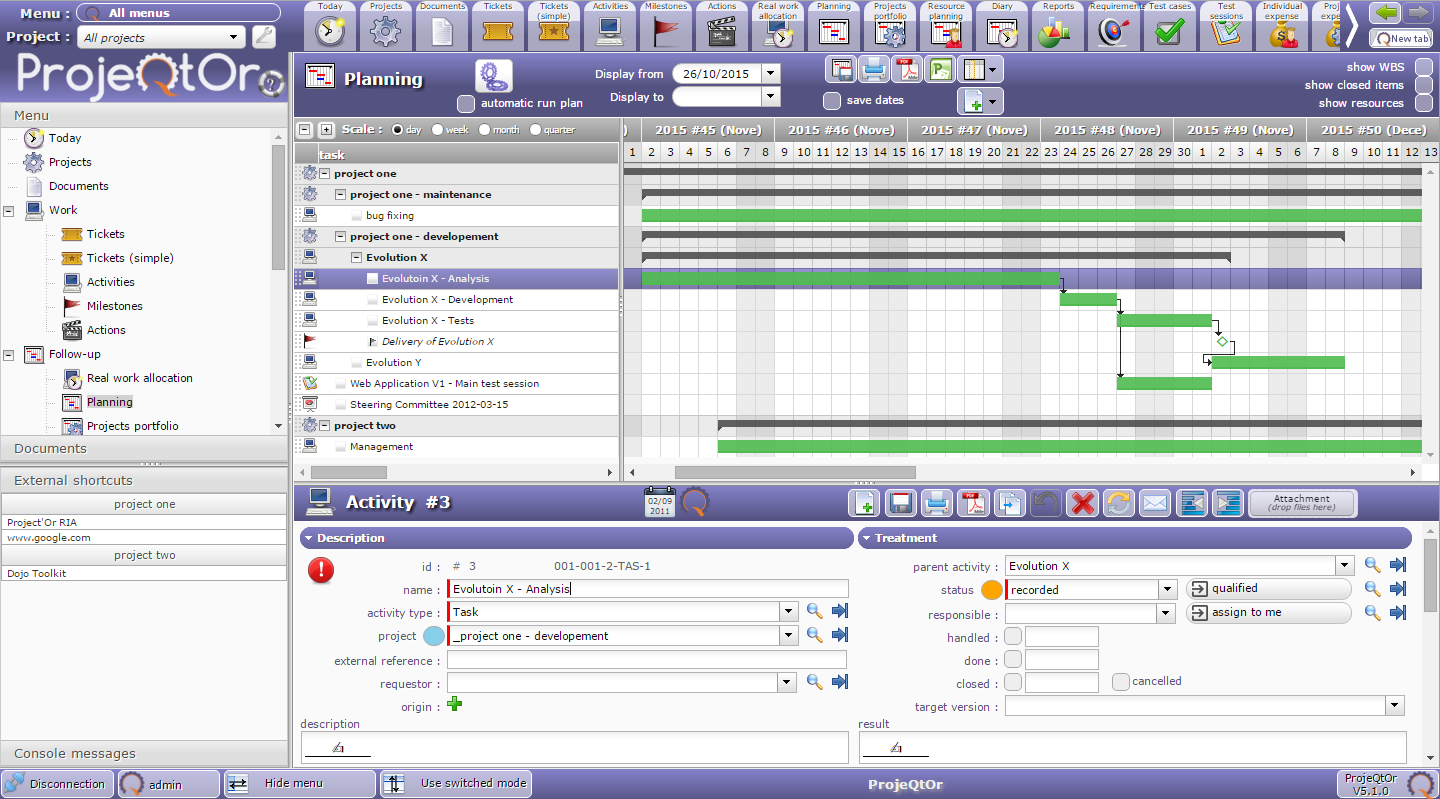 Projeqtor project management tool download for Planning software free