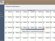 Reservations Calendar Page
