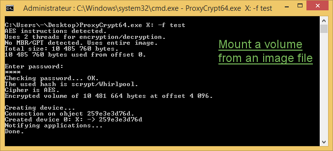 ProxyCrypt Screen shot