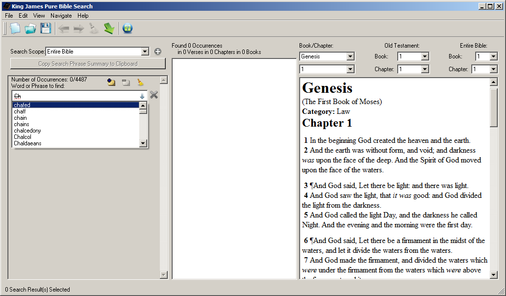 KingJamesPureBibleSearch download | SourceForge net