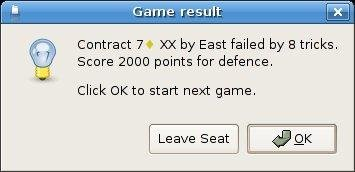 Game result dialog... whoops!