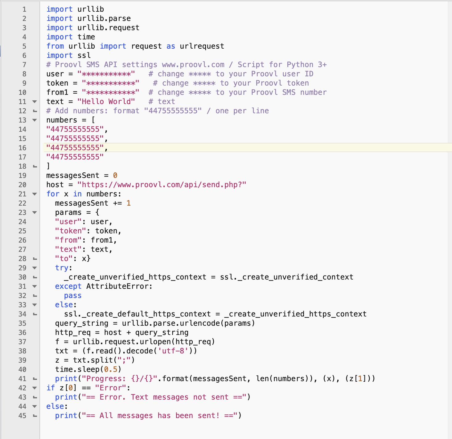 Python bulk sms api download | SourceForge net