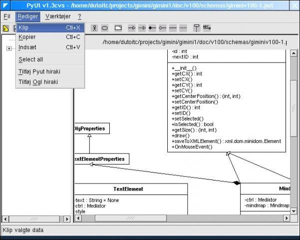 Python uml tool download sourceforge pyut 13cvs danish version with class diagram ccuart Choice Image