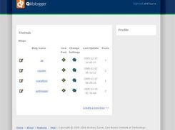 Dashboard for a logged in user