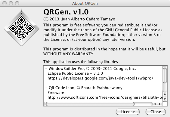 QR Gen download | SourceForge net