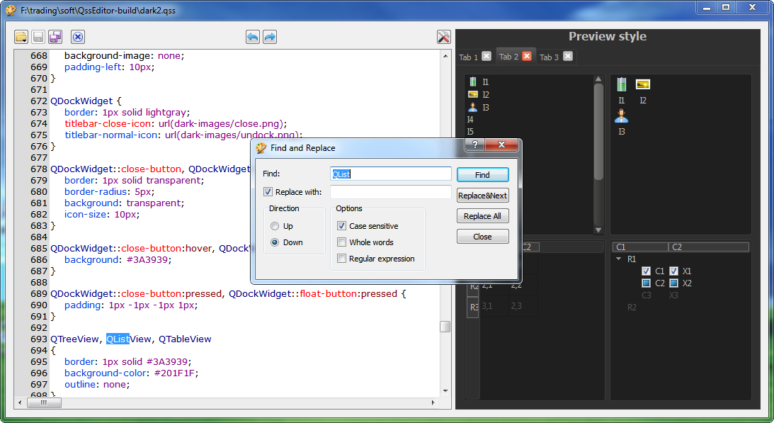QSS Editor download | SourceForge net