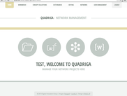 Quadriga Welcome Page
