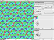 QuasiTiler version 0.2 with default Penrose tiling.