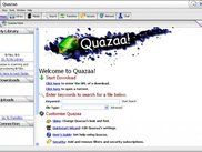 Quazaa Welcome Screen under Windows XP.