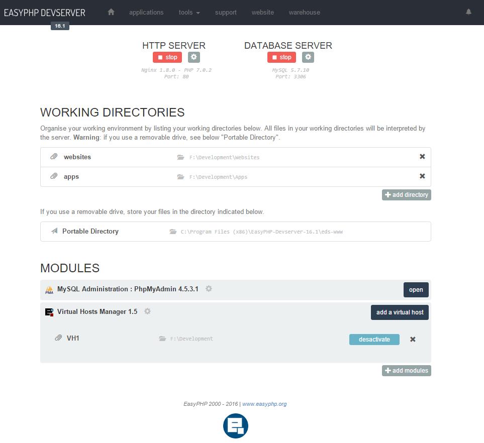 easyphp webserver