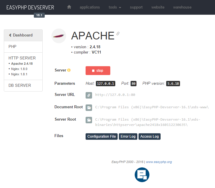 easyphp ancienne version