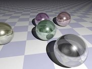 Rendering of a classic raytracing scene
