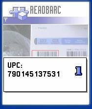 Another barcode screen capture from the emulator.