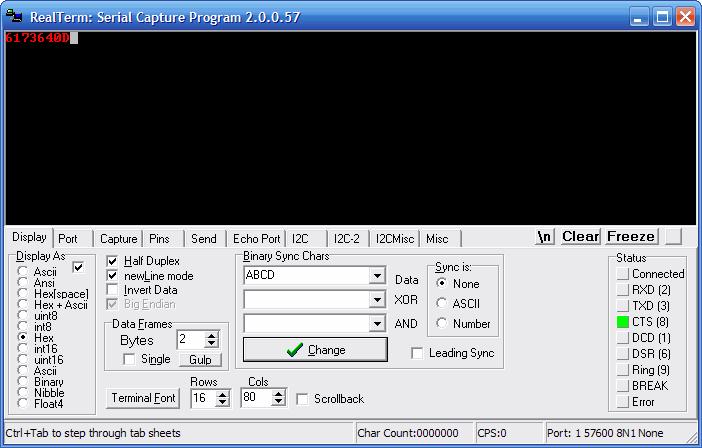 Windows serial client