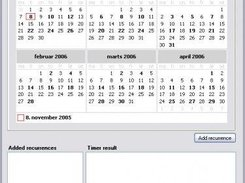 MonthCalendarPlus control with highlighted recurrence dates