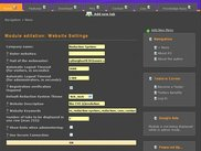 Website Settings Administration Module