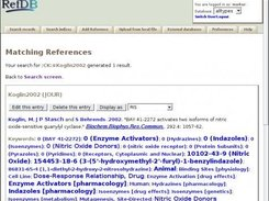 Query result displayed in the PHP web interface