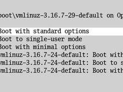 rEFInd generates submenus for Linux kernels and OS X boot loaders.