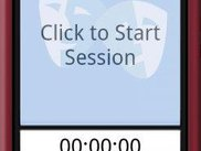 A session is started by pushing the Start Session button.