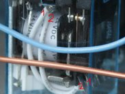 Twisted wires inside the relay