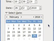 The new reminder dialog with the calendar shown