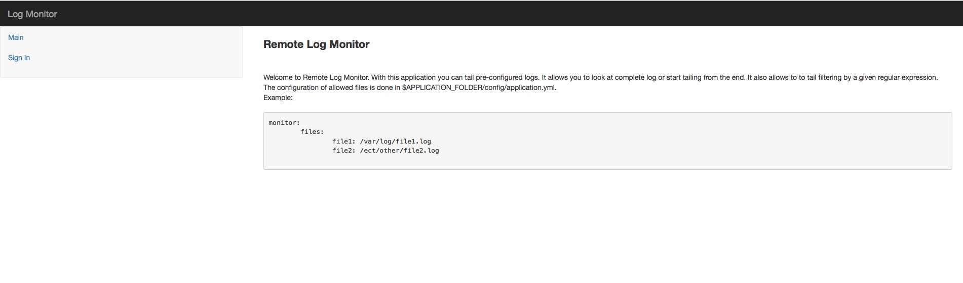Remote Log Monitor Download Starter Sign Main Screen Before Login