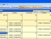 A sample of a iCalendar loaded, the buttons are at top-right
