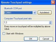 Remote touchpad settings on computer