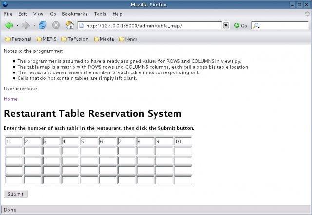 Restaurant Table Reservation System download | SourceForge net